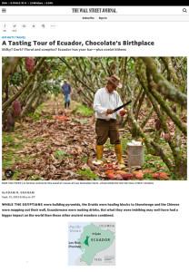 A Tasting Tour of Ecuador, Chocolate's Birthplace - WSJ
