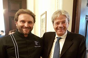 Il Maestro Macellaro «prende» per la gola Gentiloni e la delegazione Onu